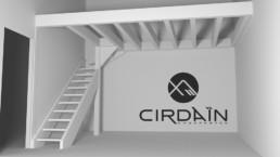 Maquette 3D Escalier Mezzanine Bois