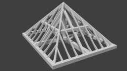 Maquette 3D Toiture Charpente